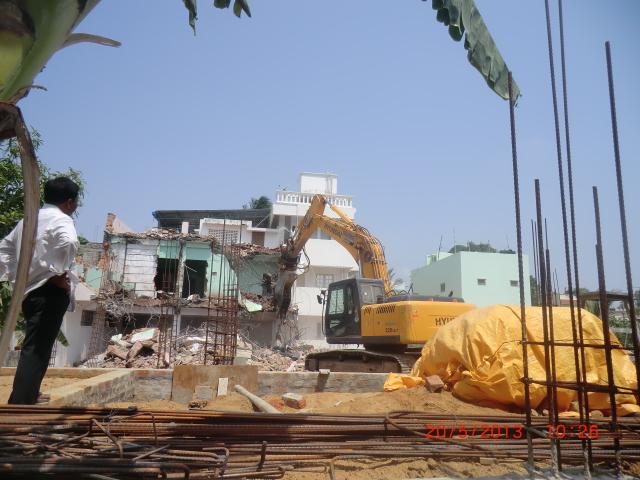 Rcc Construction House : Rcc concrete roof demolishing contractors in chennai